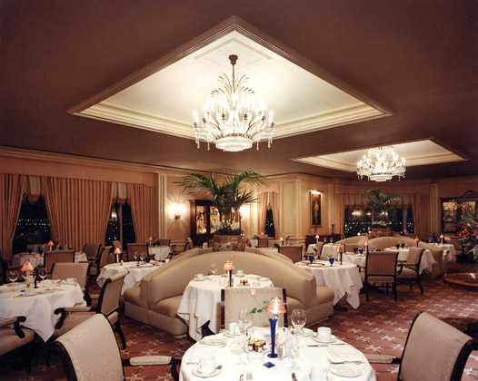 Ritz Carlton Dining Room · Cleveland, Ohio · View of Dining Room at Midnight with subdued lighting