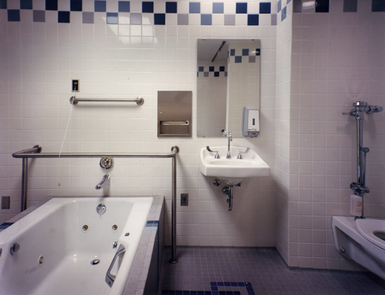 UH Therapy Bathroom · Cleveland, Ohio · Neat, clean shot of interior of bathroom with even, consistent lighting